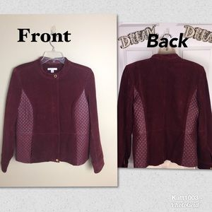 😍Beautiful Isaac Mizrahi leather/suede jacket